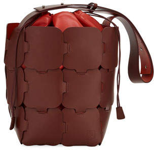 Paco Rabanne 1601 Medium Sleek Leather Hobo Bag
