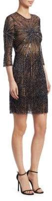 Naeem Khan Starburst Embroidered Sheath Dress