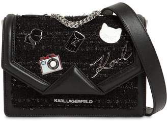 Karl Lagerfeld Mini K/Klassik Pins Leather & Tweed Bag