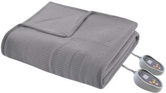 Simmons Knit Micro-Fleece Full Heated Blanket Bedding