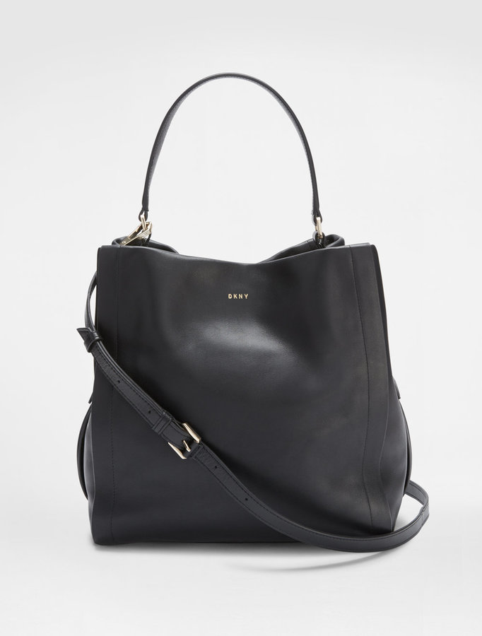 DKNY Greenwich Smooth Leather Bucket Bag