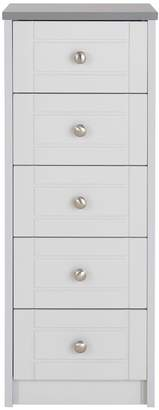 Very Alderley Ready Assembled Narrow 5 Drawer Chest