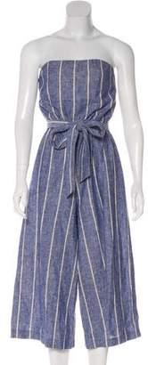 Alice + Olivia Striped Linen-Blend Jumpsuit