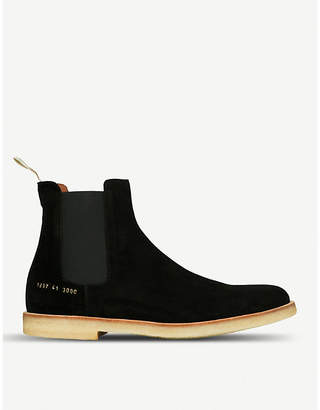 Common Projects Round-toe suede Chelsea boots