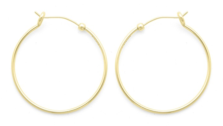 Alex and Ani Medium Perfect Hoop Earrings