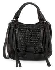 Kooba Basket Woven Leather Hobo Bag