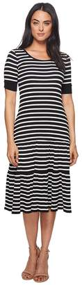 Lauren Ralph Lauren Striped Waffle-Knit Cotton Dress Women's Dress