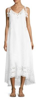 Theory Taytee Eyelet Midi Dress $475 thestylecure.com
