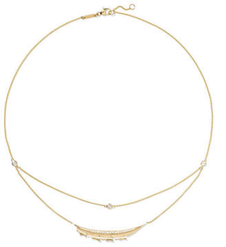 Stephen Webster Magnipheasant 18-karat Gold Diamond Necklace