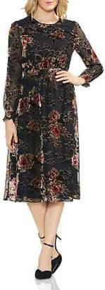 Vince Camuto Floral Velvet-Burnout Dress