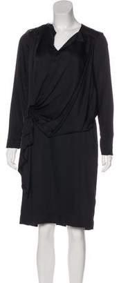 Marni Long Sleeve Draped Dress