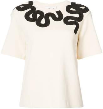 Derek Lam 10 Crosby Short Sleeve Embroidered Tee