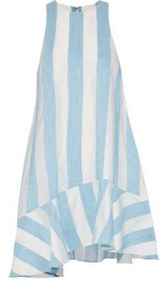 Paper London Paneled Taffeta And Gauze Mini Dress