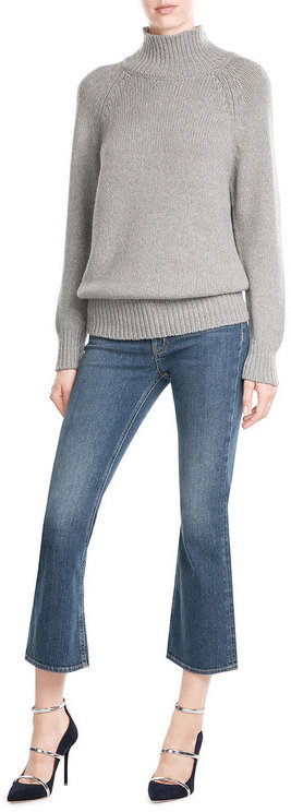 Max Mara Max Mara Virgin Wool Turtleneck Pullover with Cashmere