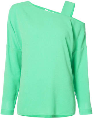 Tibi cut out shoulder top