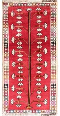 """Bloomsbury Market One-of-a-Kind Seidman Geometric Qashqai Persian Oriental Red Wool Kitchen Rug 5'10""""X2'11"""" Bloomsbury Market"""
