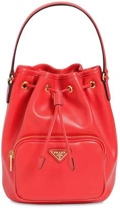Prada Saffiano & City Leather Bucket Bag