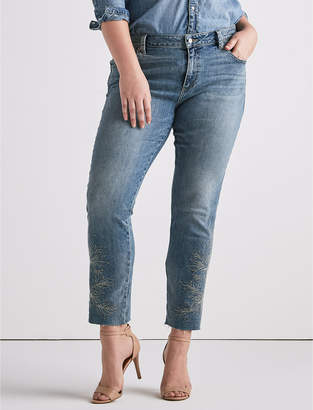Lucky Brand Plus Reese Boyfriend with Embroidery