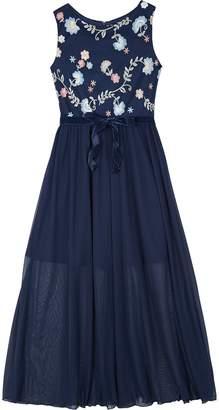Amy Byer Iz Girls 7-16 IZ Sleeveless Floral Maxi Dress