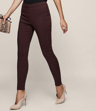 Reiss Darlas - Skinny Tailored Trousers in Ox Blood