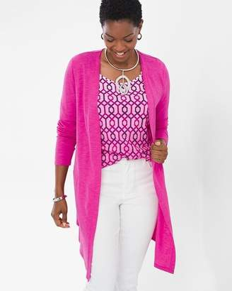 Chico's Chicos Cotton Slub Cardigan