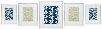 Debenhams Home Collection - 5 Piece Silver Gallery Wall Pack Photo Frames
