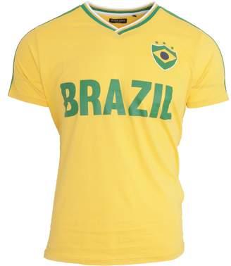 Brave Soul Unisex Brazil Short Sleeve Football T-Shirt (L)