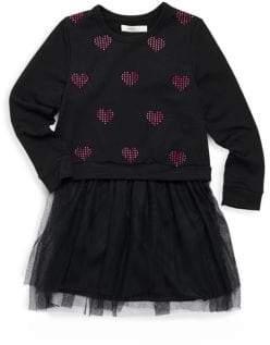 Pinc Premium Little Girl's Heart Long-Sleeve Dress