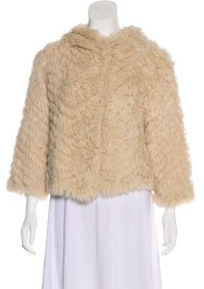 Marc by Marc Jacobs Wool Fur-Trimmed Jacket