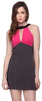 Forever 21 Colorblocked Halter Dress