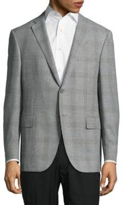 Corneliani Notch-Lapel Plaid Jacket