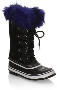 Sorel Joan Of Arctic Suede& Faux Fur Boots
