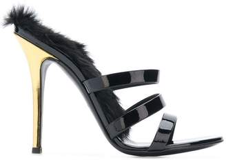 Giuseppe Zanotti Design fur trim sandals