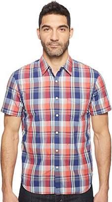 Lucky Brand Men's Short Sleeve Ballona Shirt in Orange Multi
