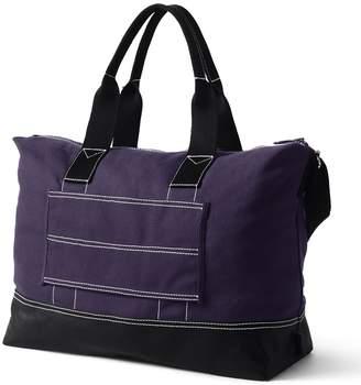 Lands' End Purple Canvas Weekender Bag