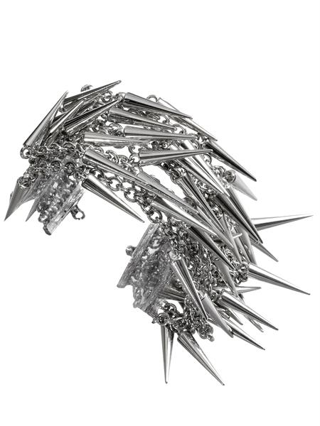 GUESS Rock Rolla Mesh Spike Bracelet