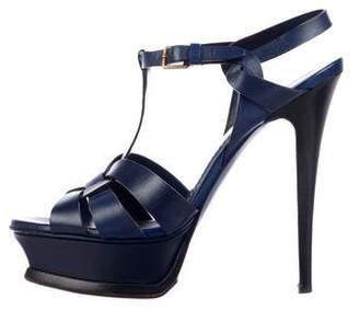 Saint Laurent Tribute 105 Leather Sandals