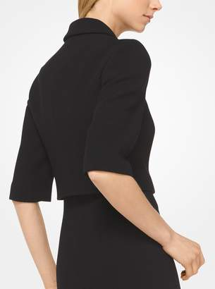 Michael Kors Stretch Boucle-Crepe Cropped Jacket
