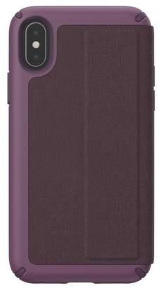 Speck Purple iPhone XS\u002FX Presidio Folio Case