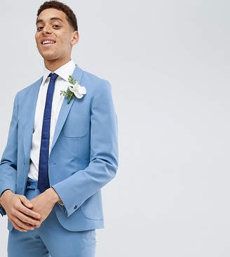 Hart Hollywood Skinny Wedding Suit Jacket With Shawl Lapel