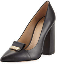 Grayson Leather Pumps w/ Lock Hardware