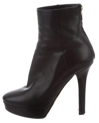 Jimmy Choo Leather Platform Ankle Boots