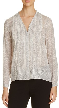 Elie Tahari Gale Printed Blouse $298 thestylecure.com