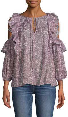 French Connection Women's Cold-Shoulder Ruffle Blouse