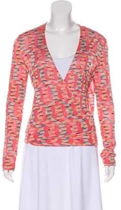 Missoni Patterned Wrap Cardigan Pink Patterned Wrap Cardigan