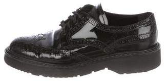 Prada Sport Patent Leather Wing-Tip Oxfords