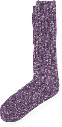 Ralph Lauren Cotton-Blend Ragg Crew Socks