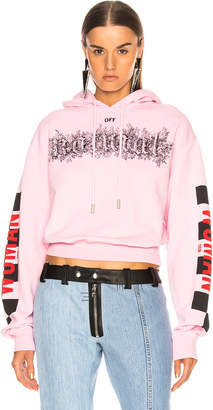 Off-White Off White Taxi Cropped Hoodie