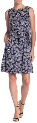 Anne Klein Field Trip Print Sleeveless Dress