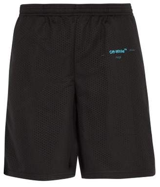 Off-White Off White Gradient Mesh Shorts - Mens - Black
